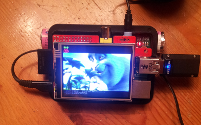 Raspberry Pi mit Display 320x240 Pixel